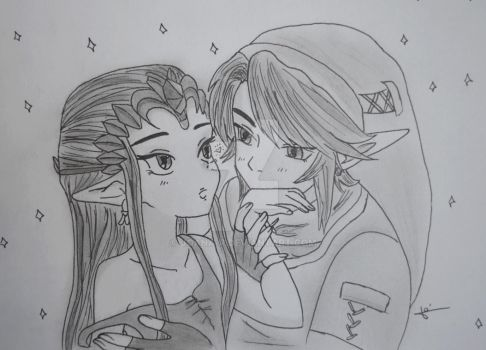 Game ~ Zelda and Link by Joana-R