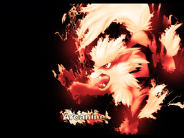 Arcanine Wallpaper by YoungLinkGFX