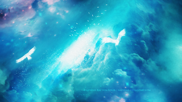 The light hole in clouds by GeneRazART