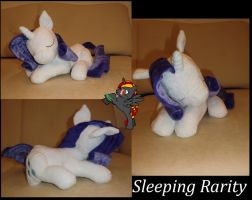 Sleeping Rarity by Caleighs-World