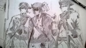 Sketching of Pirates ^w^ by AIscariot