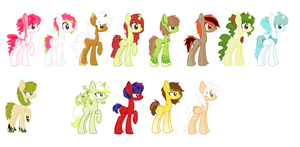 Food ponies for sale by StarDust-Adoptables