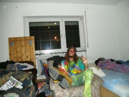 Hippie at friends house before party by Dominik19