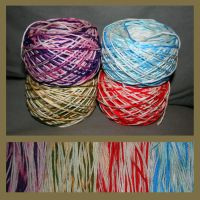 Bleached cotton yarn by KnitLizzy