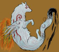 Okami In a Blank Space by SunsetFlareX