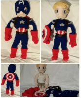 Captain America Crochet Doll by Phylpo