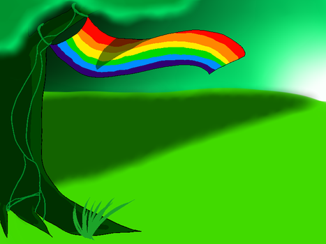 Pride Month Nature by MagmaAquariusWolf