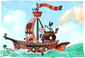 PIRATES by griffsnuff