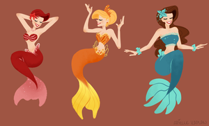 Three Mermaids by Chexmicks