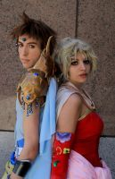 Be Strong- Bartz + Terra dissidia cosplay by Detailed-Illusion