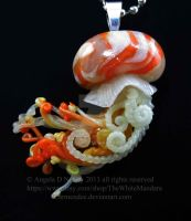 mini jellyfish pendant by carmendee