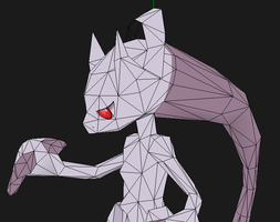 Mega Mewtwo Y papercraft new textures  coming soon by javierini