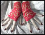Bollywood Fingerless Gloves by ZenAndCoffee