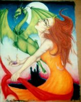 The Maiden and the Wyrm by Carmabal