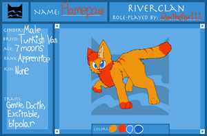 Flamepaw of Riverclan by SwiftyNifty