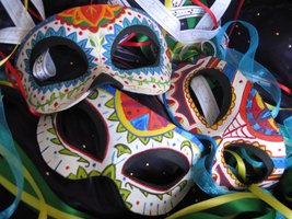 Dia de los Muertos-Day of the Dead Masks 1, 2, 3 by ToTheMask