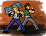Double Dragon tribute by EmersonOvens