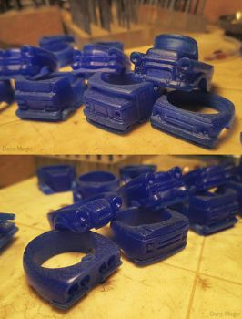 Pile of Auto Ring Waxes by Dans-Magic