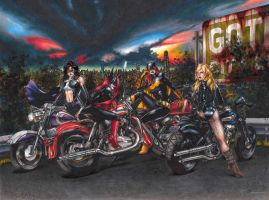 Biker Women of Gotham by RichardCox