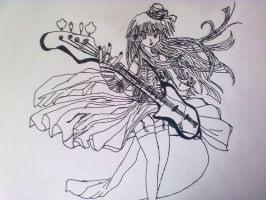Anime girl with guitar by DiLulu