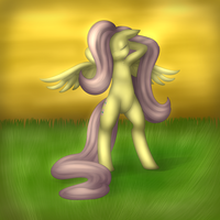 good morning fluttershy by Lamiaaaa