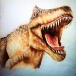 The Jurassic - Colour pencil by supersonicartdrawer