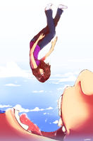 Falling girl by Lunafex