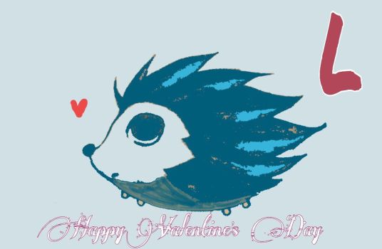 L the Hedgehog Says Happy V-Day by CrescendoFlight