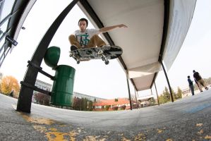 Ollie over trash can by RadoslawSass