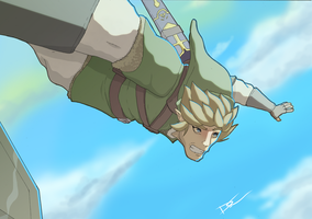 link skydive color by Link-artist