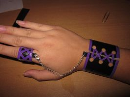 Duck Tape Corset Bracelet and Ring by Xvayluna243