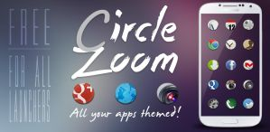 Circle Zoom HD - Free Android Theme by d-bliss