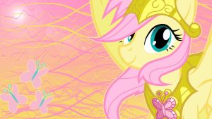 Fluttershy Wallpaper 2 by MonsterPon3