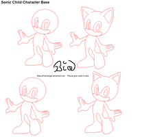 Sonic Child Character Base by BiancaTheHedgie