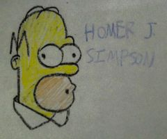 Crayon Homer by TheIransonic