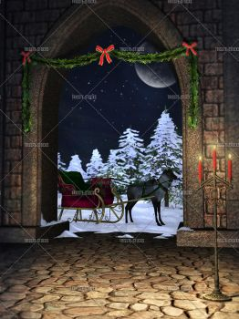 Christmas at the Castle by Trisste-stocks