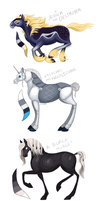Horse-like adoptables! by Rainroad