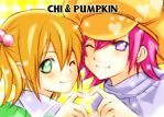 Chi and Pumpkin by arielucia