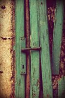 Blue cottage door by WinterWood91