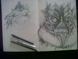 DIABLO III a pretty old sketch by David De Leon by Daviddleonluis
