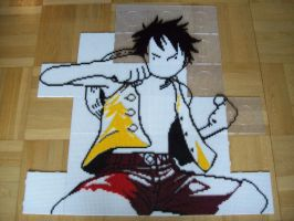 Monkey D. Luffy Bead Sprite 2. by TameFlame
