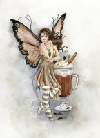 Hot Chocolate Fairy by JannaFairyArt