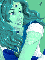 tegaki - sailor neptune by Yoccuri