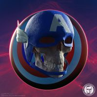 Skullified Captain America by fantasio