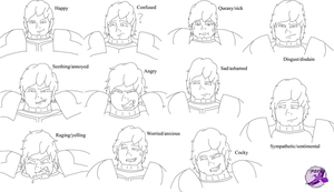 Dom facial expressions improved by PurpleSallyJay