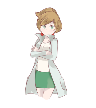 Pokemon BW - Professor Juniper by chocomiru02