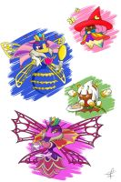 commission Sectonia, Taranza and Paintra doodle by Primrose-Rachel
