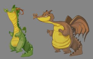 Dragons by JGecek
