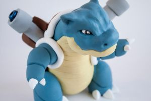 Polymer clay Blastoise pipe by Fuckinintents