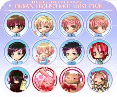 Ouran Host Club Button set by jinyjin